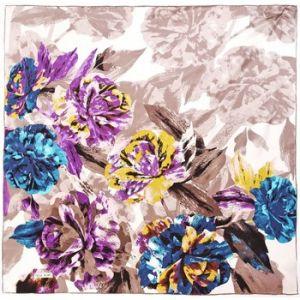 Image de Allée du foulard Carré de soie Premium Maja Grisé