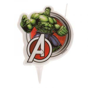 Dekora Bougie d'anniversaire Hulk Avengers 7,5 cm Taille Unique