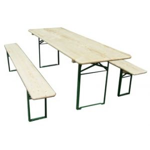 Foresta Set brasserie 1 table 220 x 70 cm avec 2 bancs