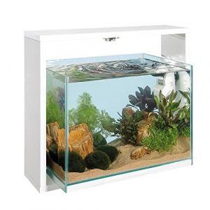 Ferplast Samoa 40 - Aquarium 30 litres en verre blanc 25 x 48,6 x 42 cm