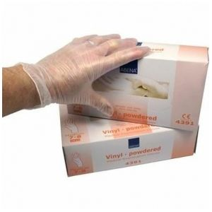 Image de Abena 100 gants en vinyl non poudrés - Medium 7/8