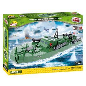 Cobi Bateau torpille à moteur- Jeux de construction