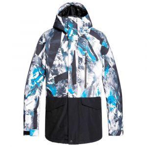 Quiksilver Mission-Veste de Ski/Snowboard pour Homme, Cloisonne Random Pics, FR : L (Taille Fabricant : L)