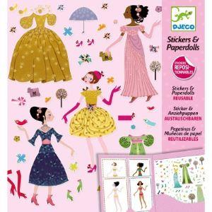 Djeco Stickers & Paperdolls : Robes des 4 saisons