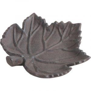 Aubry Gaspard Mangeoire oiseau feuille en fonte