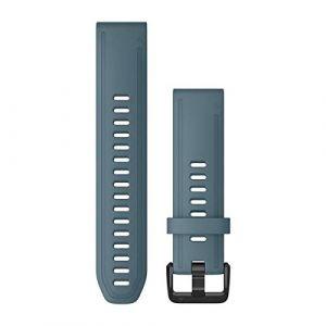 Garmin Bracelet de montre Quick Fit 20mm - Silicone Bleu lac boucle Noir