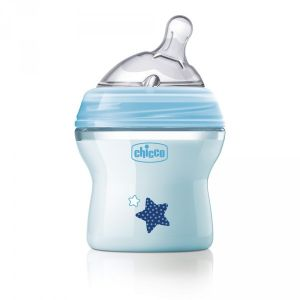 Chicco Biberon NaturalFeeling tétine inclinée 150 ml 0m+ flux lent