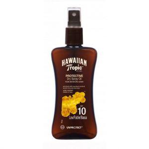 Hawaiian Tropic Spray huile solaire protectrice SPF10