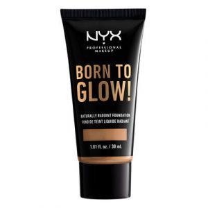NYX Cosmetics Born to Glow Naturally Radiant Fondation - Fond de Teint Liquide Éclat - Camel