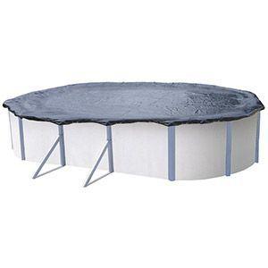 Abak C0134 - Bâche d'hiver pour piscine ovale hors sol en métal ou résine 6,10/6,50 x 3,70/3,80 m