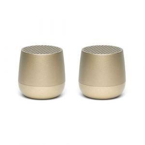 Lexon Twin Mino+ - Soft Gold - Enceinte sans fil
