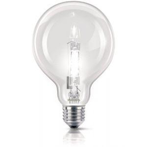 Philips 925711044202 - Ampoule Eco-Halogène Globe Culot E27 70 Watts consommés (Equivalence incandescence 92w)