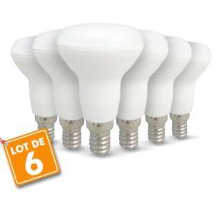 Eclairage design Lot de 6 ampoules LED E14 R50 6W 510Lm | blanc-neutre-4000k