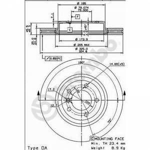 Brembo 2 Disques de frein 09.8952.11