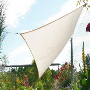 Pegane Voile d'ombrage rectangulaire Ivoire en Polyester 200g/m² anti-UV - Dim : 300 x 250 cm