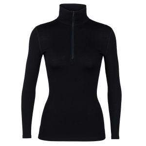 Icebreaker 260 Tech long sleeve half zip Women black