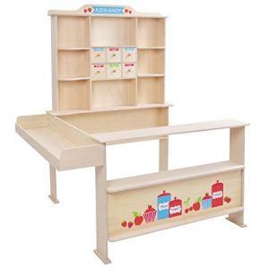 Infantastic Stand de la marchande pour enfant avec comptoir, tiroir et cie