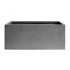 Jardinière rectangulaire lisse -100 x 47 x 47 cm - Gris anthracite