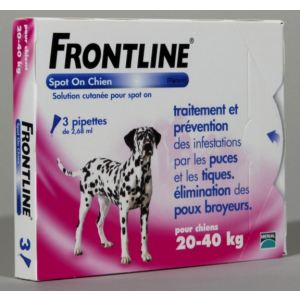 Frontline Combo Spot-On Chien L 20-40 kg - Soin antiparasitaire