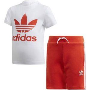 Adidas Ensembles de survêtement SHORT TEE SET COMPLETINO BAMBINI ARANCIONE orange - Taille 5 / 6 ans,6 / 7 ans,7 / 8 ans