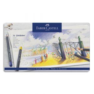 Faber-Castell Crayons de couleur Faber Castel Goldfaber - coloris assortis - étui de 36