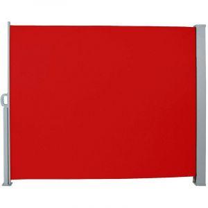 Auvent store latéral brise-vue abri paravent soleil aluminium rétractable hauteur 180 cm longueur 300 cm rouge