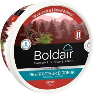 Boldair Boîte gel destructeur d'odeurs 300 g Cèdre
