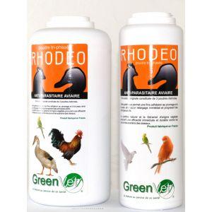 GreenVet Rhodeo - Poudre anti-parasitaire pour oiseaux 250 g