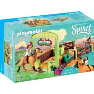 Playmobil Lucky et Spirit avec box - 9478