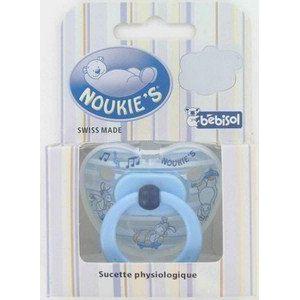 Bébisol 4703738 - Sucette physiologique Noukie's en silicone modèle Garçon (6-36 mois)