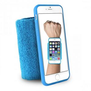"Puro IPC647RUNBLUE Coque + Brassard pour iPhone 6 4,7"" Bleu"