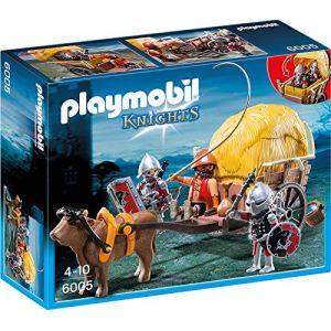 Playmobil 6005 Knights - Chevaliers de l'Aigle avec charrette piégée