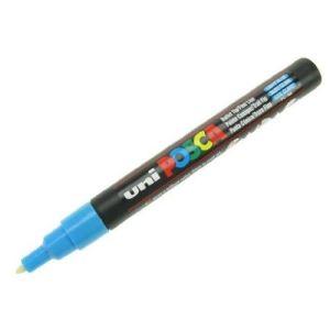 Uni Ball Marqueur peinture Posca encre bleue pointe fine