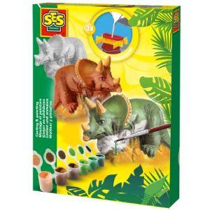 Ses Creative Moulage en plâtre : Triceratops