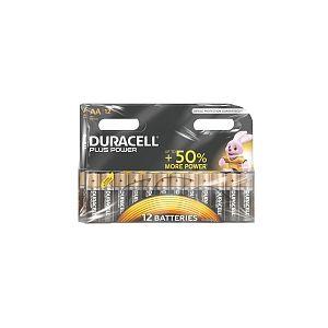 Duracell Pack de 12 piles Alcaline Plus Power AA (LR06)
