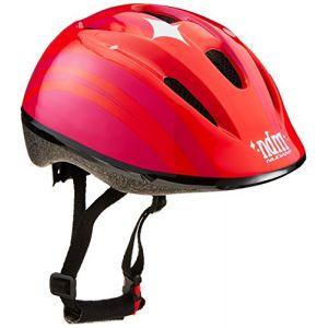 Nijdam Junior enfants ROF Skate/Casque de vélo avec inscription, rouge/fuchsia, taille unique