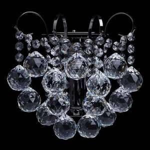 MW-Light Applique exceptionnelle de style baroque et magnifique avec armature en métal couleur nickel et plafonnier en cristal, pour salon cuisine ou chambre 1 ampoule non incl. 1 x 60W E14 230V