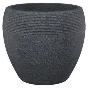Scheurich Pot plastique DEROMA Diam.47.3 x H.39 cm noir
