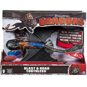 Toyland Dragons : Krokmou Tir et Rugie - Figurine électronique 35 cm + Projectiles