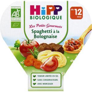 HiPP Biologique Les Petits Gourmets : Spaghetti à la bolognaise 230 g - dès 12 mois