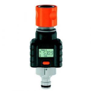Gardena Débitmètre numérique d'eau électronique intelligent pour tuyau d'arrosage du jardin