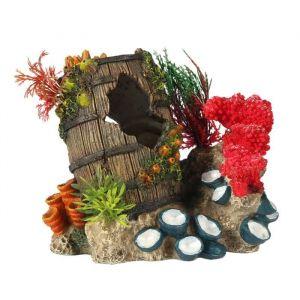 Ebi Décor Artefact coulé 2 - 15,3x11,6x13,7 cm - Pour aquarium