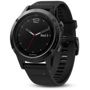 Garmin Fenix 5S GPS Montre Black Sapphire avec bracelet noir