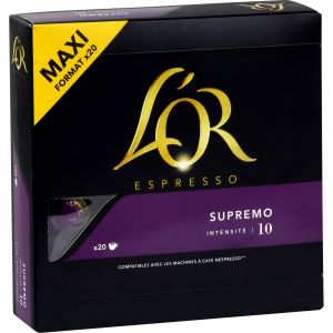 Maison du Café L'or Espresso Supremo compatibles Nespresso® - 20 capsules
