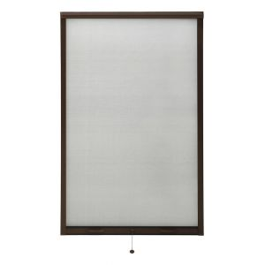 VidaXL Moustiquaire à rouleau pour fenêtres Marron 100x170 cm