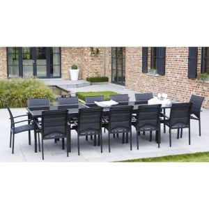 Alpina Garden Modulo 12 - Ensemble de jardin en aluminium avec 12 fauteuils