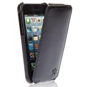 Issentiel Housse pour iPhone 5C Cuir Noir Ebène - Collection Prestige