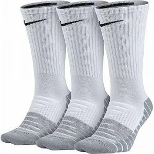 Nike Chaussettes de training Dry Cushion Crew (3 paires) - Blanc - Taille M - Unisex