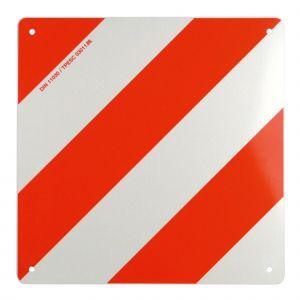 Carpoint Plaque de surcharge en métal - 42,3 x 42,3 cm - Rouge et blanc