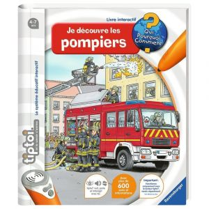 Ravensburger Livre Tip Toi - Je découvre les pompiers